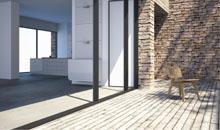 Modernes Wohnen auf echtem Holzboden - helle Farbtöne schaffen eine großzügige Atmosphäre